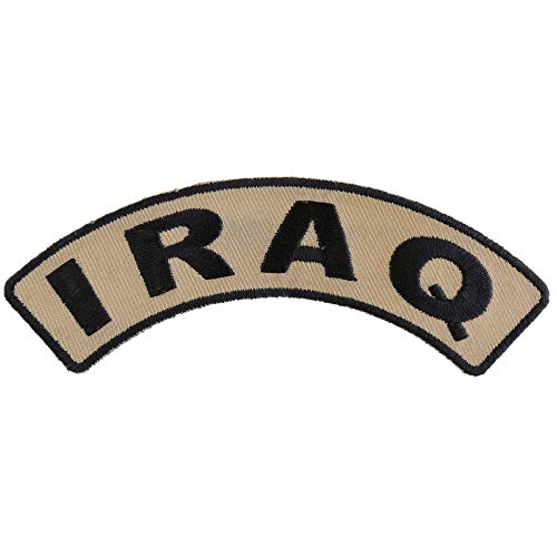 Iraq Small Arm Rocker Patch - 4.5x1.5 inch. Embroidered Iron on Patch