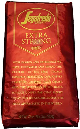 SEGAFREDO EXTRA STRONG - Zanetti's Commercial Flagship Coffe Roast - We think it is'The World's Best' available Whole Bean Coffee Roast - 1.0Kg/2.2lb Pack