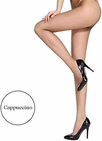 d80fd67f326a3 6Pcs 2D Solid Color Tights Women Skin Nylon Pantyhose Women Sexy Slim T  Crotch Design Hosiery