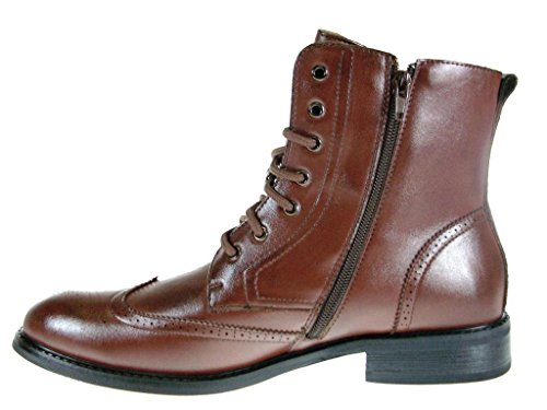 Ankle Delli Boots Lace Mens 828 Brown High Aldo Tip Wing Up qtxtrfP