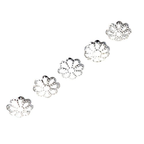 (TOOGOO(R) 100pcs 6mm Fine Bright Silver Plated Daisy Spacer Beads for Bracelets DIY Jewelry Making)