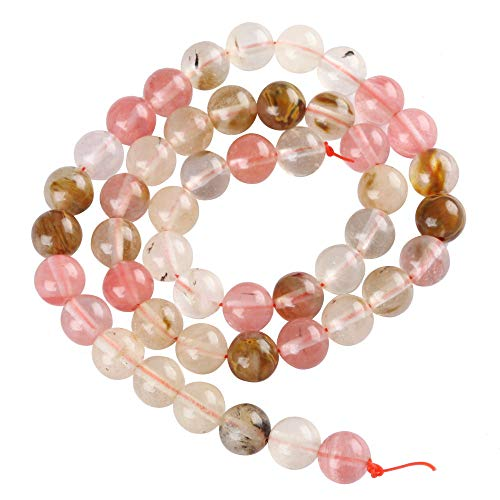 2 Strands x AAA Gemstone Watermelon Tourmaline Gemstone Loose Round Beads 6mm Spacer Beads (15.5