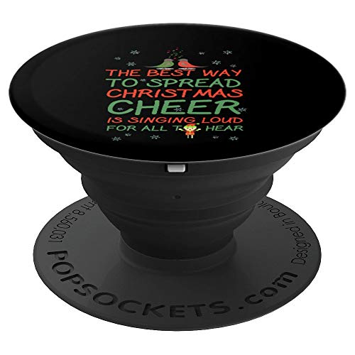 THE BEST WAY TO SPREAD CHRISTMAS CHEER - ELF SANTA'S HELPER - PopSockets Grip and Stand for Phones and Tablets -