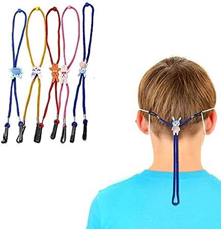 Cord/ón para cara 9 piezas de cuerda de seguridad de los ni/ños Face/_Cover titular de la cuerda extensores correa para el cuello que cubre la boca correas Cordones Gafas Soporte