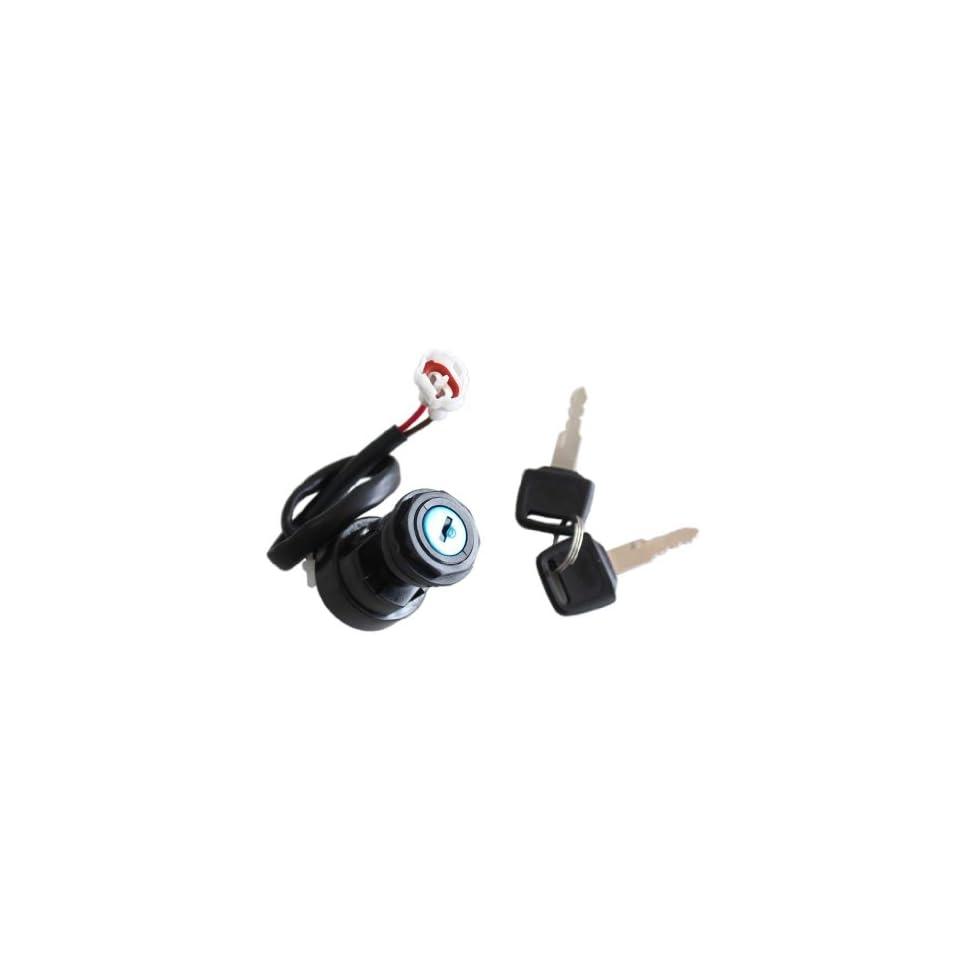 New Ignition Key Switch for Yamaha Yfm660 Raptor Atv 2001 2002 2003 2004 2005 2 Pin Plug
