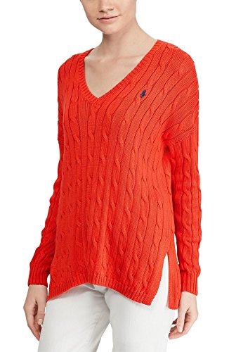 Polo Ralph Lauren Womens Merino Wool Sweater Tomato Small ()