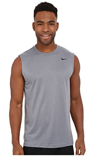Nike Mens Legend Dri Fit Sleeveless T Shirt (Large, Grey) (Nike Graphic Tshirts For Men)