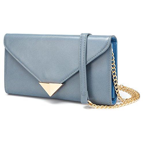 FUTISKY Women Clutch Purse Evening Bag PU Leather Handbag Shoulder Crossbody Chain Bag