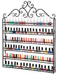6 TIER Black Nail Polish Display Wall Rack Metal Organizer(Hold to 120 Bottles) from Unknown
