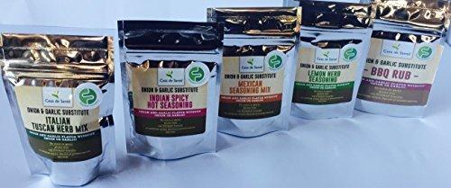 Casa de Sante Low FODMAP Spice Mixes - No Onion No Garlic FODMAP Friendly Certified Artisan Onion and Garlic Substitute Seasonings, Paleo, Starter 5 Pack by Casa de Sante (Image #1)