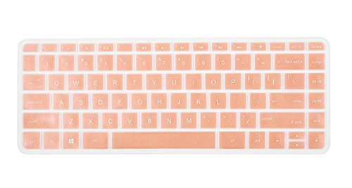 for HP Stream 14 Keyboard Cover for HP Stream 14 Inch Laptop | HP Stream 14-ax Series | 14 inch HP Pavilion 14-ab 14-ac 14-ad 14-al 14-an Series Protective Skin, Rose Gold