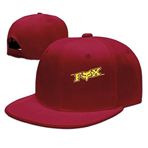 Evelyn C. Connor Fox-Logo Flat Billed Baseball Caps Red