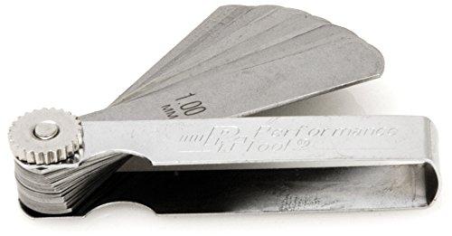 Performance Tool W80527 25 Blade Metric Feeler Gauge Spark Plug Feeler Gauge