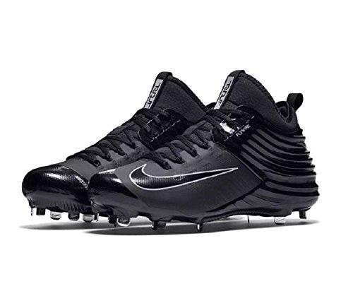 Nike Lunaire Trout 2 Hommes Mike Baseball Crampons Noir Argent