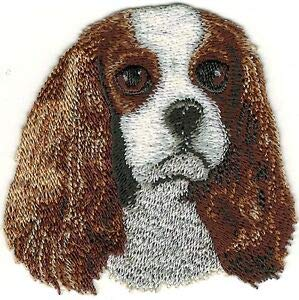 VirVenture Cavalier King Charles Dog Breed Embroidery Patch Great for Hats, Backpacks, and ()