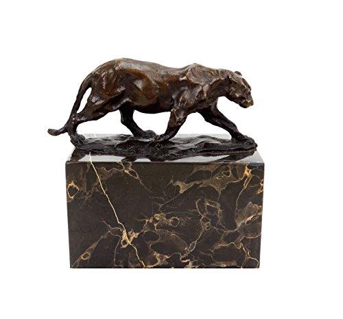 Kunst & Ambiente Walking Panther (1904) - Panthère Marchant - Signed Rembrandt Bugatti - Bronze Animal Figurine - Wildlife Sculptures for Sale