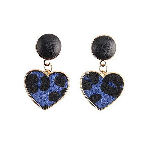 Dokis 1Pair Women Leopard Drop Dangle Geometric Heart Ear Stud Earrings Jewelry New | Model ERRNGS - 16646 |