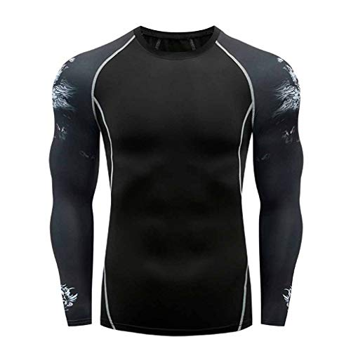 Farmerl Offer! Men Long Sleeve Compression T-Shirts Base