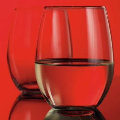 Home Essentials Stemless Red Wine Glass (Set of 4), , Black