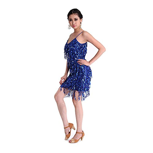 CoastaCloud Ballo Gonna Blu Latino Donna Balli Bianco Latina alla Danza Vestiti wwHrqA