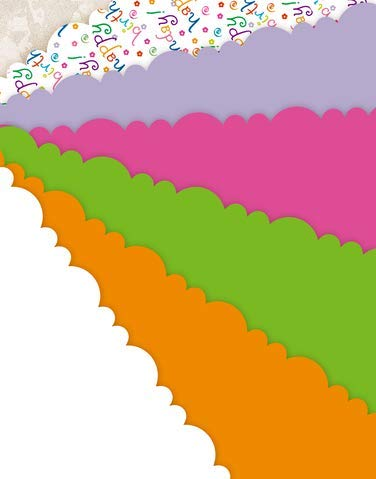 """72 Sheets Each 19/"""" x 25/"""" Patterns and Solids Exclusive Scalloped Edge Spot on Celebration Tissue Paper Collection"""