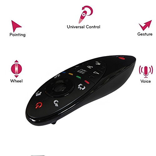 With the ingeniously inventive LG AN-MR500 Magic Remote Control you'll be able to use your voice, gestures and point and scroll methods to operate your 2014 LG TV. Take full control of your 2014 LG Smart device with the LG ANMR500 Magic Remote.(English Keypad). (Smart Tv Lg Lb5800)