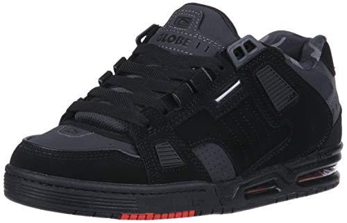 Globe Men's Sabre Skate Shoe, Black/Night/red, 7.5 M US
