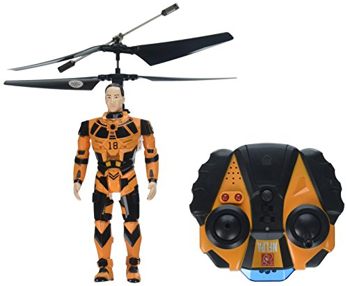 World Tech Toys NFLPA Licensed Peyton Manning BlitzBots 3.5CH IR RC Helicopter, Orange/Black, 9.5 x 5.25 x 12