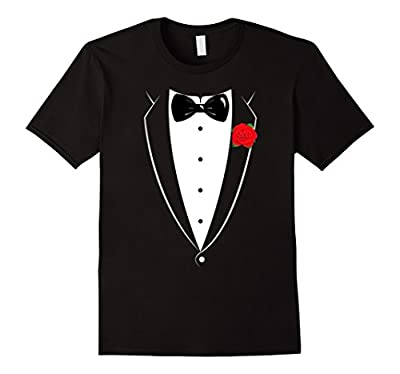 Black And White Tuxedo With Bowtie Funny T Shirt