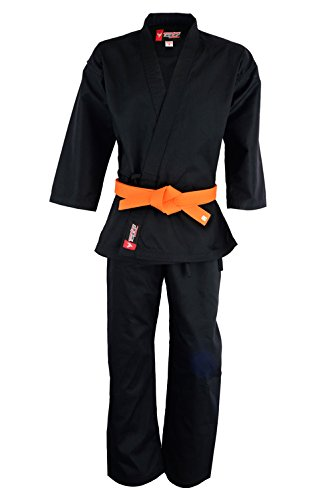 Karate uniforms middleweight black 8oz for student (1)