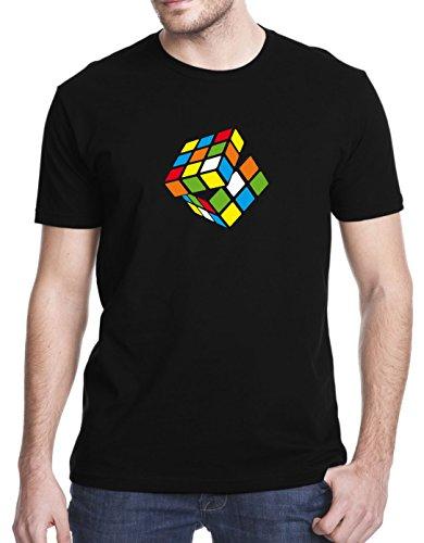 Rubik's Cube Retro 80s T-Shirt, 2XL, Black