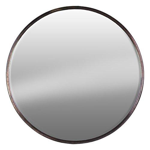 Urban Trends 37517 Metal Round Wall Mirror SM Tarnished Bronze - Bronze Round Mirror