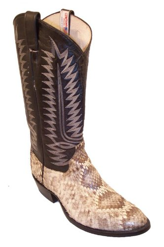 Cowtown Diamond Back Rattlesnake Cowboy Boots - W Toe -
