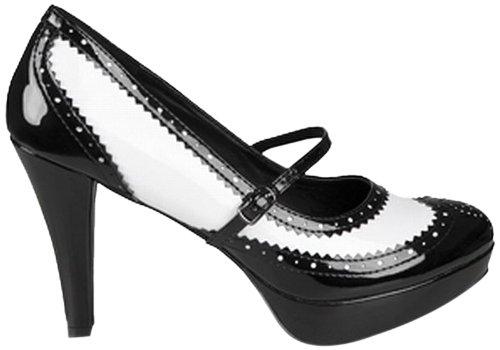 Chaussures noire et blanche vernies femme - Pointure 38