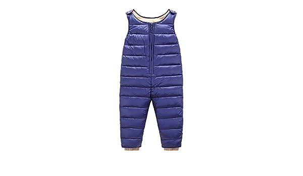 La vogue Bebé Pantalones Peto Acolchado Plumas Overalls Mono de Nieve Largo Impermeable Ajustable: Amazon.es: Ropa y accesorios