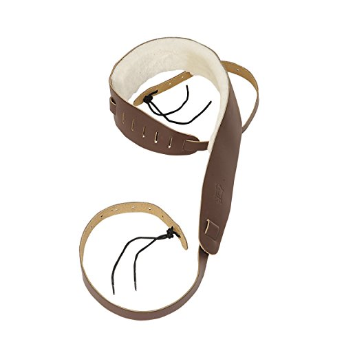 Levy's Leathers PM14-BRN Genuine Leather Banjo Strap with Sheepskin, Brown