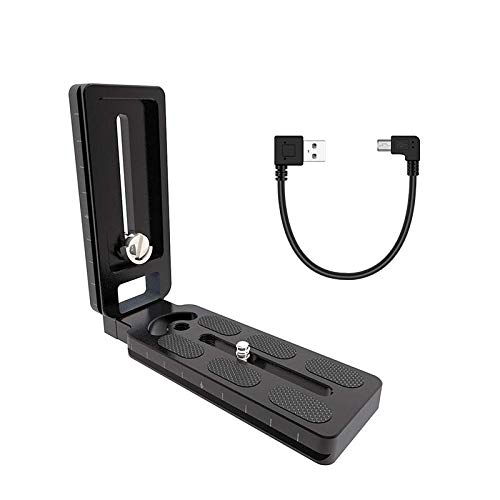 CamFi L-Type Camera Bracket, L-Shape Plate Quick Release Plate Stand Holder for CamFi Wireless Remote Camera Controller with USB 2.0 Cable