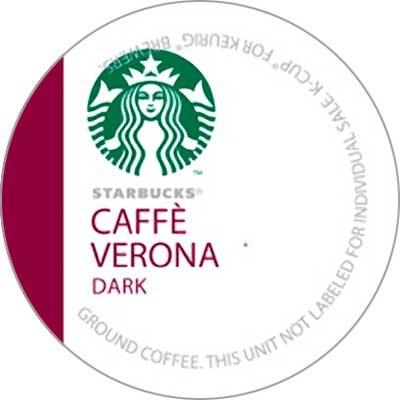 Starbucks Caffe Verona Coffee K-Cups by Starbucks