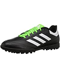 Men's Goletto VI TF Soccer-Shoes, Black/White/Solar...