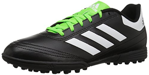adidas Performance Men's Goletto VI TF Soccer-Shoes, Black/White/Solar Green, 9 M US (Turf Shoes Soccer Men)