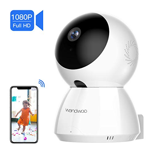 [2019 New] IP Security Camera, Wandwoo 1080P Wireless Security Camera with Night Vision Two-Way Audio PTZ Control Home Camera White for Baby Monitor Pet Camera Nanny Camera - Ptz Camera Control