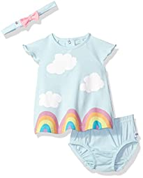 Rosie Pope Baby Little Girls\' 2 Piece Set with Headband and Matching Diaper Cover, Blue, 24M