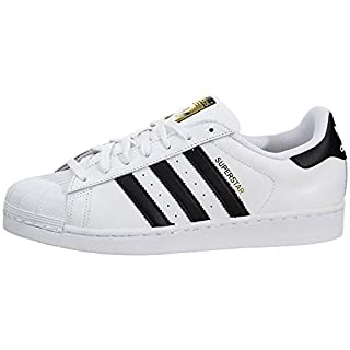 adidas Originals womens Superstar Sneaker, White/Black/White, 5.5 US