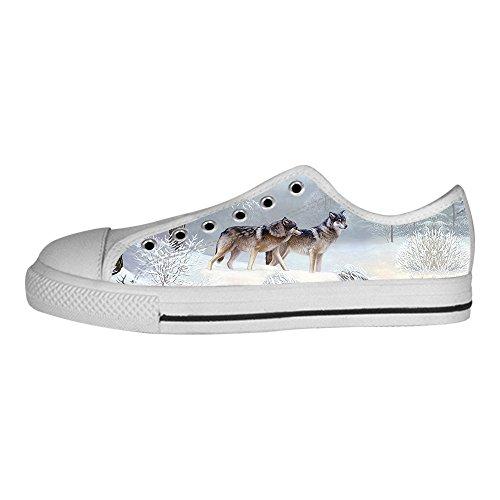 Alto Tela Le Scarpe I Lupo Da E Luna Lacci In Men's Canvas Shoes Custom Di Delle Sopra Ginnastica HPqOTxxw