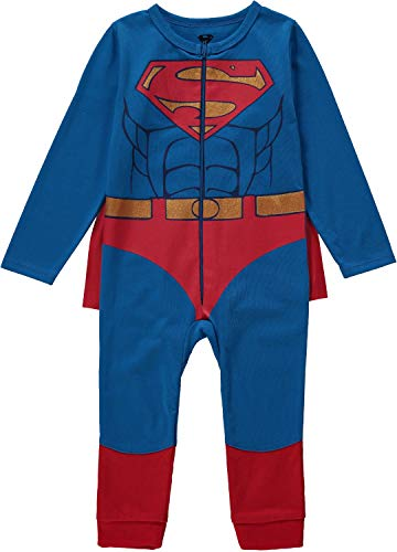 Superman Halloween Costumes For Babies (Superman Infant Toddler Boys Costume with Belt and Cape red 12)