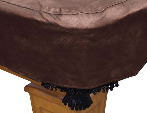 Ozone Brown Leatherette Pool Table Cover - 8 Foot by Ozone Billiards