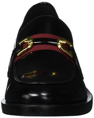C0241 Noir Mocassins Brogue Geox bordeaux A Femme Donna black Pfwzq6
