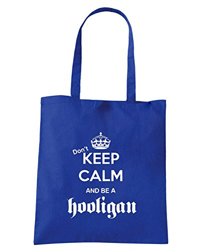 T-Shirtshock - Bolsa para la compra TUM0110 DONT KEEP CALM AND BE A HOOLIGAN Azul Real