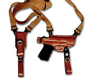 """KoHolster Leather Shoulder Holster and Double Mag Pouch for Glock 17-19-26-43/Sig Sauer P226-P229/Colt 1911 5""""/Beretta 92-92F-92FS/XDS 3.3""""/SW 5906/Jericho 941/Ruger LC9"""