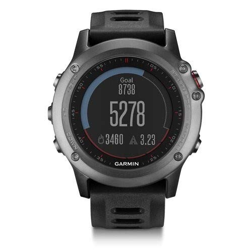 Garmin Fenix 3 GPS Fitness Watch Gray (010-N1338-00) (Renewed)
